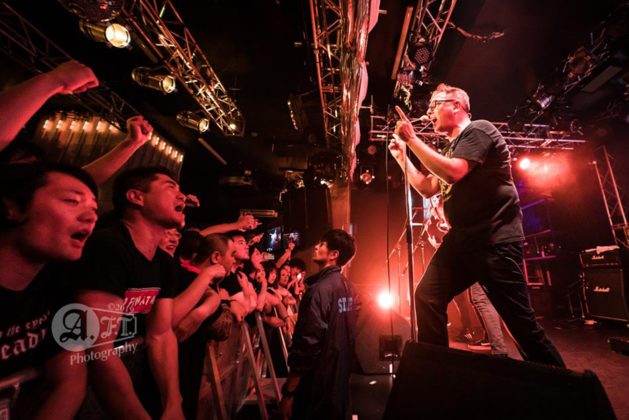 Picture of the punk band No Fun At All in concert taken by Aki Fujita Taguchi