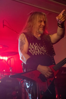 Picture of the death metal band Vader in concert taken by Lennart Håård