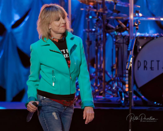 Picture of the rock band The Pretenders in concert taken by Ruth Preston