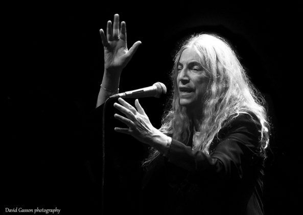 Picture of Patti Smith in concert taken by music photographer David Gasson