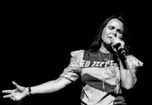 Picture of the pop rock singer Patty Smyth in concert taken by Ruth Preston