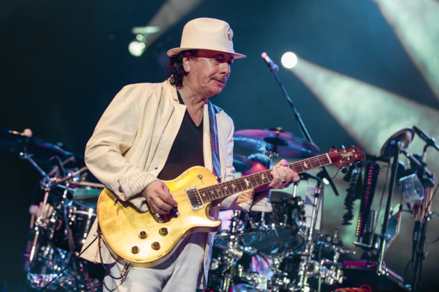 Picture of Carlos Santana in concert taken by the Toronto concert photographer Orest Dorosh