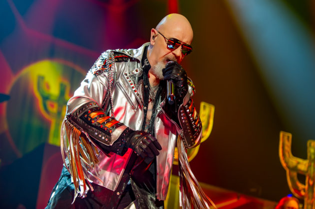 Picture of the heavy metal band Judas Priest in concert taken by the Toronto concert photographer Orest Dorosh