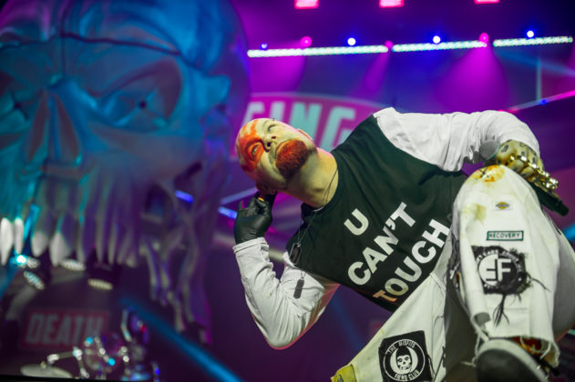Picture of the band Five Finger Death Punch in concert taken by the Toronto concert photographer Orest Dorosh