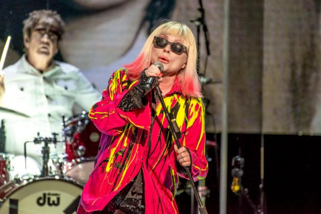 Picture of Debbie Harry in concert taken by Orest Dorosh