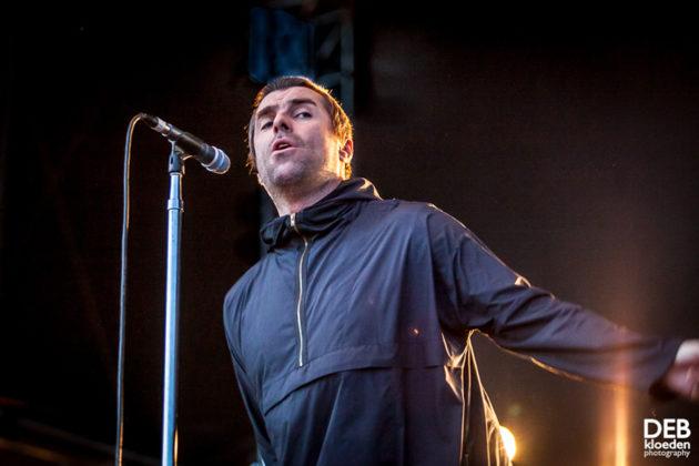 Picture of Liam Gallagher in concert taken by Deb Kloeden