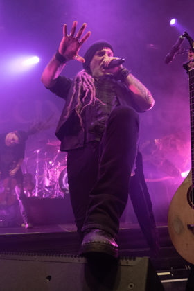 Picture of the folk metal band Eluveitie in concert taken by Lennart Håård