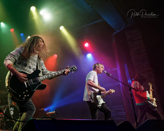 Picture of the rock band Badflower in concert taken by Ruth Preston