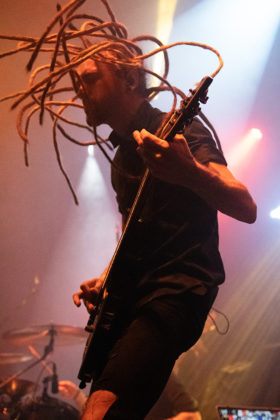 Picture of the heavy metal band Infected Rain in concert taken by Lennart Håård