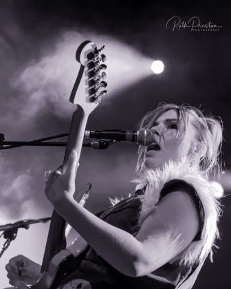 Picture of the rock band Bones UK in concert taken by Ruth Preston