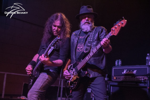 Picture of the doom metal band Candlemass in concert taken by Davide Sciaky