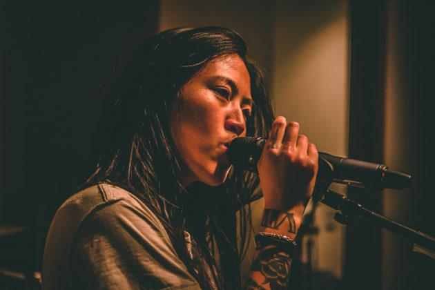 Picture of Deb Never in concert taken by John Matlosz