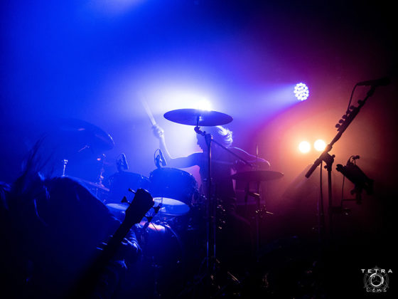 Picture of Pop Evil in concert taken by music photographer Emma Bauer