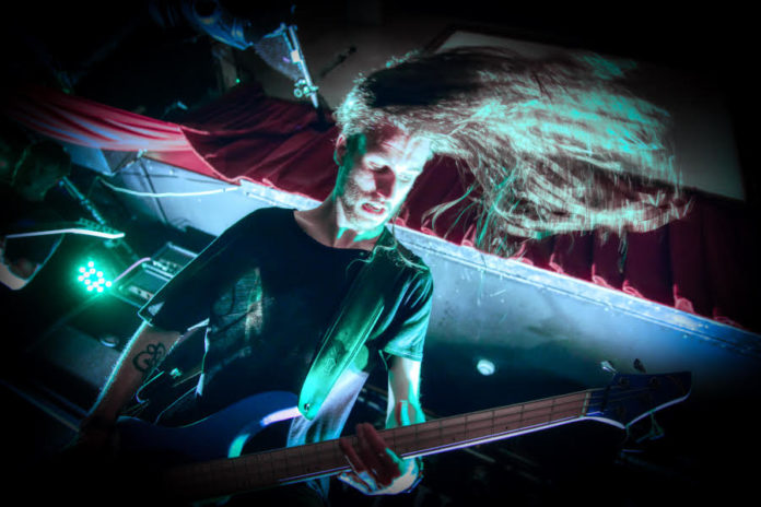 Picture of the band Conjurer in concert taken by Marcin Wilczynski