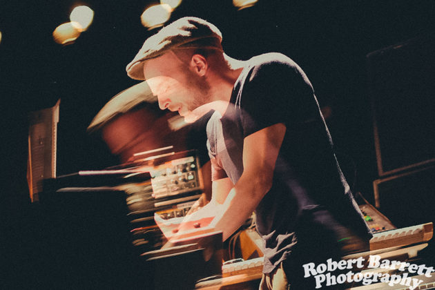 Picture of Nils Frahm in concert taken by Robert Barrett
