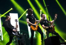 Picture of the band Alter Bridge in concert taken by Emma Bauer
