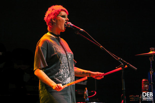 Picture of The Gooch Palms in concert taken by Deb Kloeden