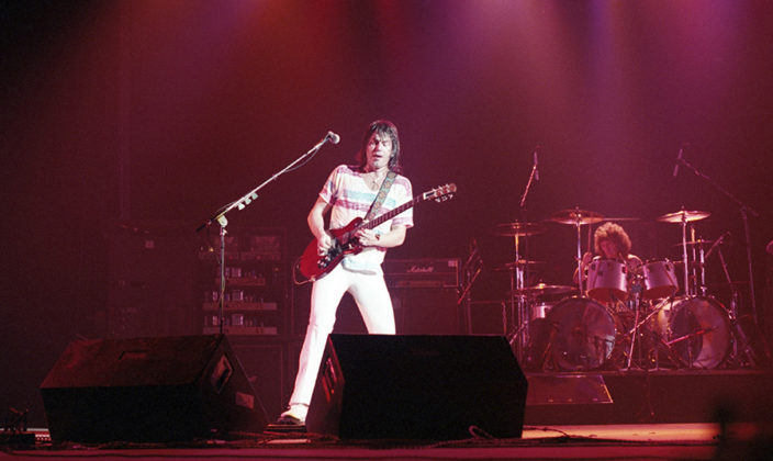 Picture of Pat Travers Band in concert in 1980 and 1981 taken by Bill O'Leary