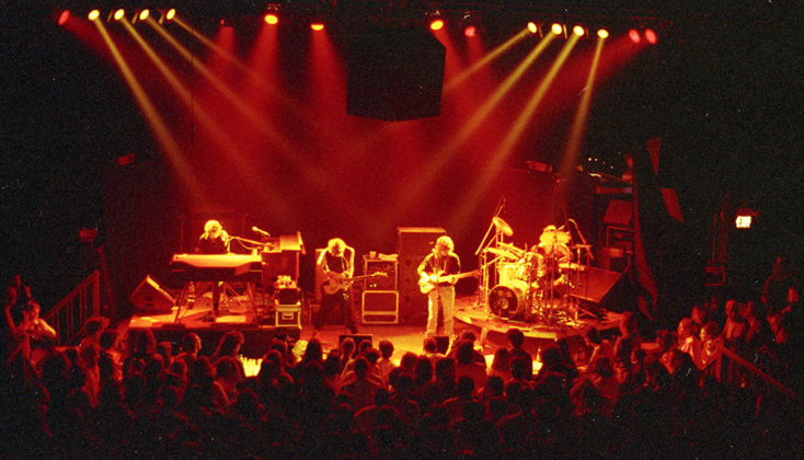 Picture of the rock band Phish in concert taken by Bill O'Leary