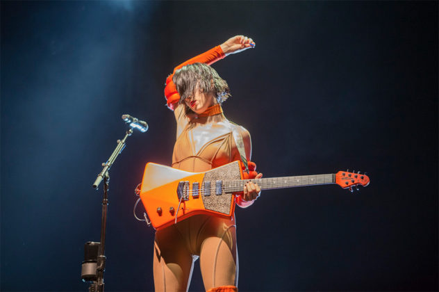 Picture of St. Vincent in concert taken by Leyda Luz