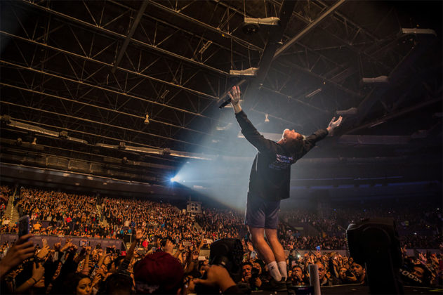 Picture of the group Imagine Dragons in concert taken by Leyda Luz