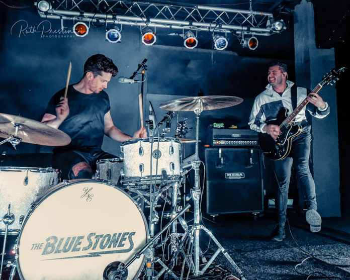 Picture of the band The Blue Stones in concert taken by Ruth Preston