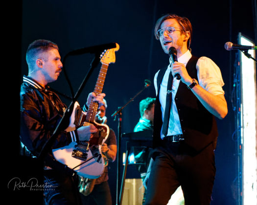 Pictures of the band Saint Motel in concert taken by Ruth Preston