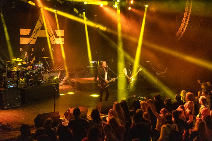 Picture of the band Reach in concert taken by Lennart Håård