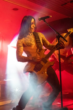 Picture of the band Siniestro in concert taken by Lennart Håård