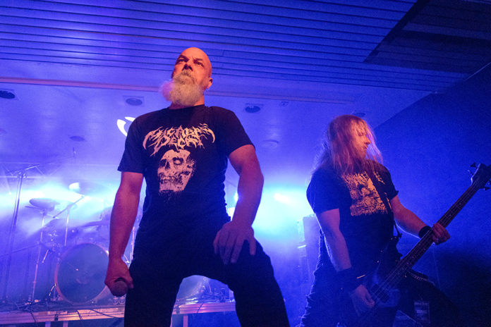 Picture of the band Centinex in concert taken by Lennart Håård