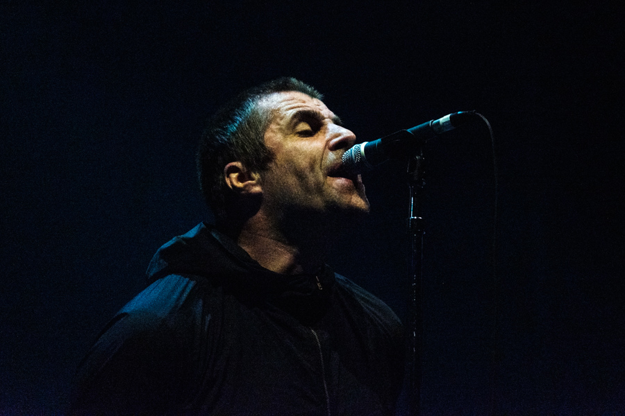 Picture of Liam Gallagher in concert taken by Darren Chan