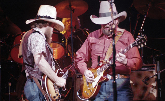 Picture of the Charlie Daniels band in concert taken by by Bill O'Leary