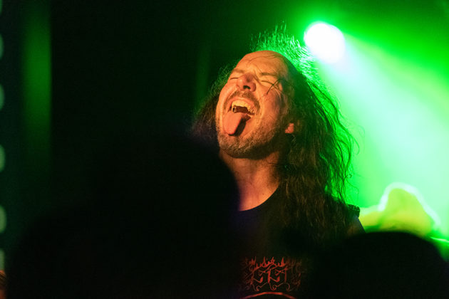 Picture of the band Desaster in concert taken by Lennart Håård