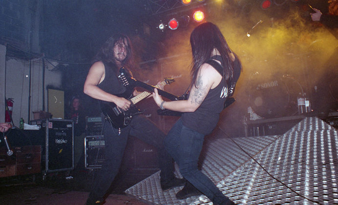 Picture of the band Testament in concert by Bill O'Leary