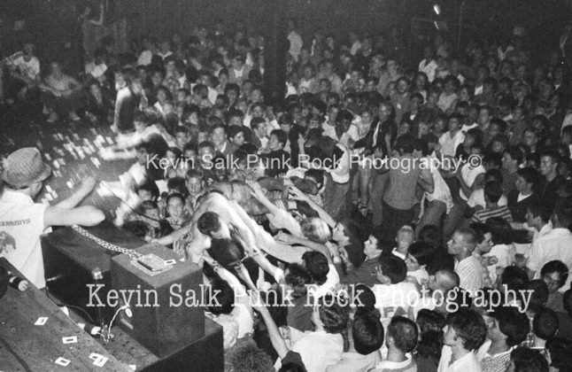 Picture of Dead Kennedys in concert taken by Kevin Salk