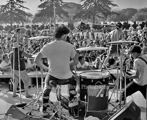 Picture of Black Flag in concert taken by Kevin Salk