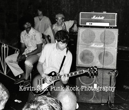 Picture of Minor Threat in concert taken by Kevin Salk