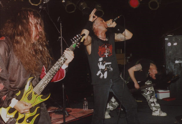 Picture of Satan's Host in concert taken by Bill O'Leary