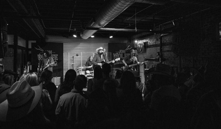 Picture of Jon Wolfe in concert taken by Travis Lucas