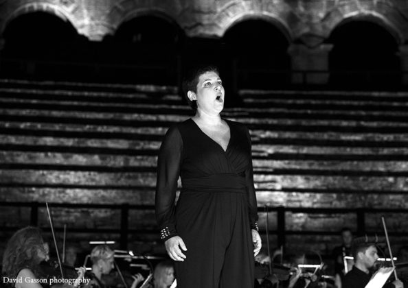 Picture of Anamarija Knego in concert taken by David Gasson