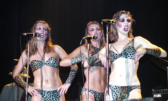 Picture of Kid Creole and the Coconuts in concert taken by Bill O'Leary