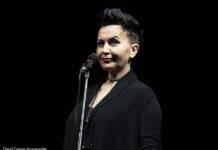 Picture of Amira Medunjanin in concert taken by David Gasson